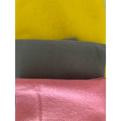 Remnant - Remnant Wool Felt Strips: : Grey - Pink - Yellow - 1m x 90cm approx