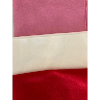Remnant - Remnant Wool Felt Strips: : Red - Pink - Natural - 1m x 90cm approx