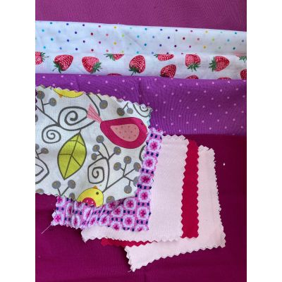 Remnant - Patch Packs: Cotton: Pink/Lilac 1m approx