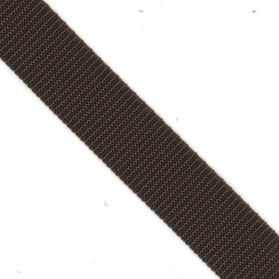 Polypropylene Webbing 25mm Wide - Brown