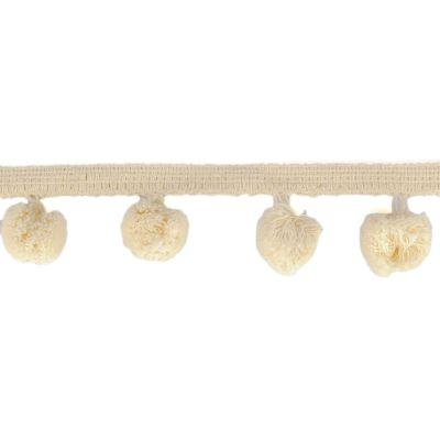 30mm Large Pom Pom Trim - Beige