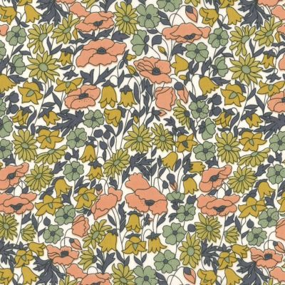 Regency Cotton Lawn Fabric - Poppy Meadow