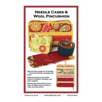 ByAnnie Sewing Pattern -   Needlecase & Wool Pincushion Pattern