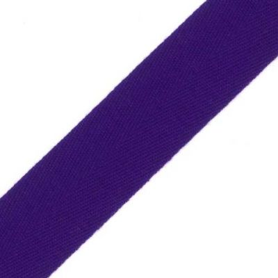 38mm Acrylic Herringbone Webbing Purple
