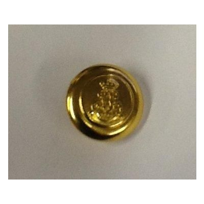 Metallic Military Gold Effect Blazer Shank Button 23mm