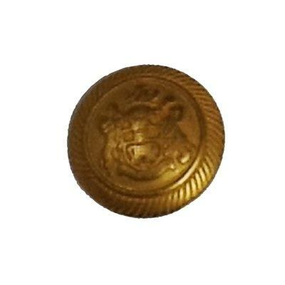 Metallic Military Brass Effect Blazer Shank Button 23mm