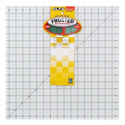 "Olfa Non Slip Frosted Ruler - 16.5"" x 16.5"""