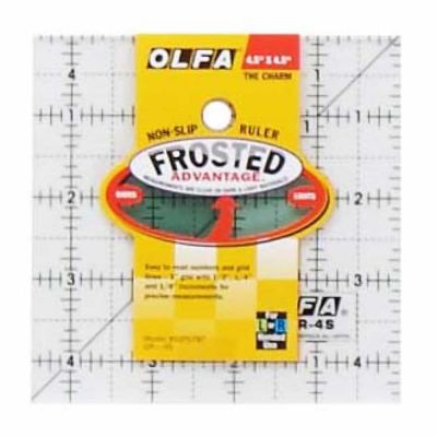 "Olfa Non Slip Frosted Ruler - 4.5"" x 4.5"""