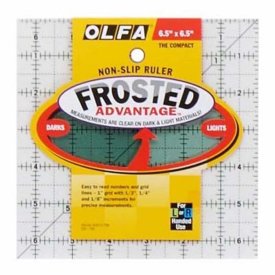 "Olfa Non Slip Frosted Ruler - 6.5"" x 6.5"""