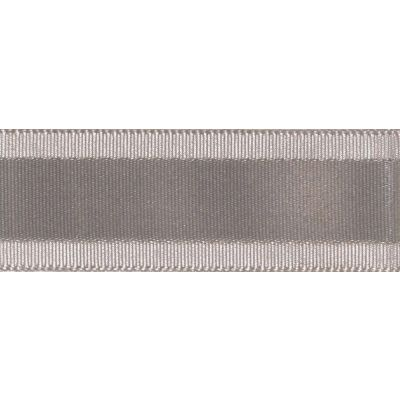 Berisfords Essentials Grace Festive Ribbon - 35mm Wide - Silver Grey