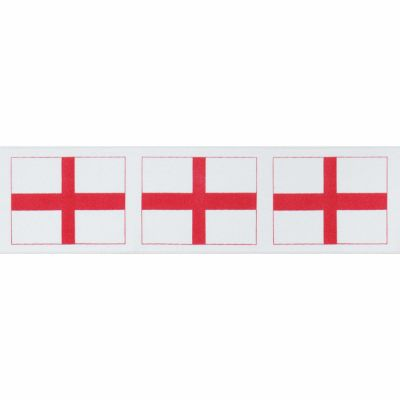 Berisfords - St Georges Cross Ribbon - 25mm Or 35mm Wide
