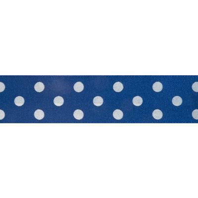 Berisfords - Polka Dot Ribbon - Dark Royal - 2 Widths