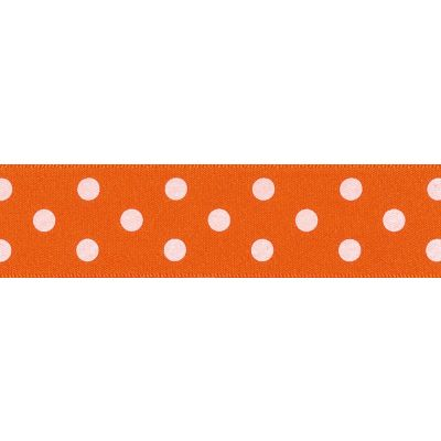 Berisfords - Polka Dot Ribbon - Orange - 2 Widths