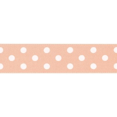 Berisfords - Polka Dot Ribbon - Peach - 2 Widths