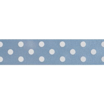 Berisfords - Polka Dot Ribbon - Cornflower - 2 Widths