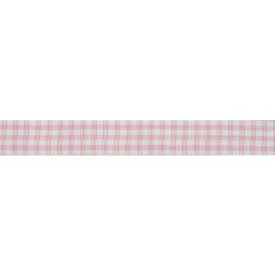 15mm Pink Gingham Ribbon 5m Reel