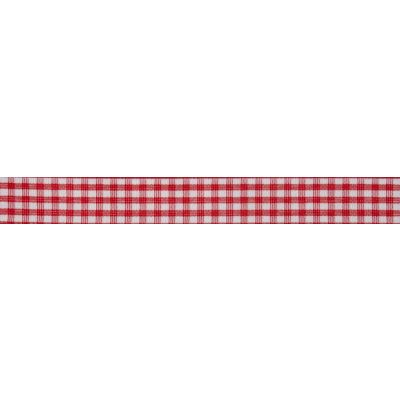 15mm Red Gingham Ribbon 5m Reel