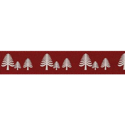 Berisfords 15mm Festive Forest Red Ribbon 4m Reel