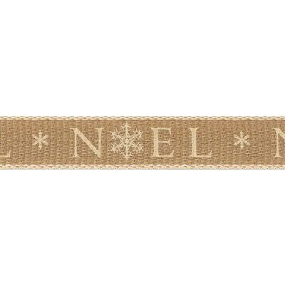 Berisfords 25mm Noel Ivory Ribbon 3m Reel