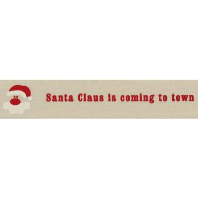 Berisfords 15mm Santa Claus Is Coming To Town On Natural Ribbon 4m Reel