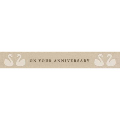 Berisfords 15mm On Your Anniversary Ribbon 4m Reel