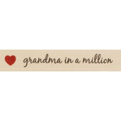 Berisfords 15mm Grandma In A Million Ribbon 4m Reel