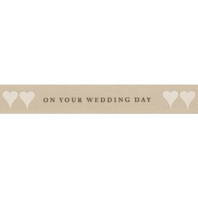 Berisfords 15mm On Your Wedding Day Ribbon 4m Reel
