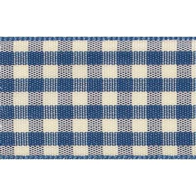 10mm Natural Gingham Blue Ribbon 4m Reel