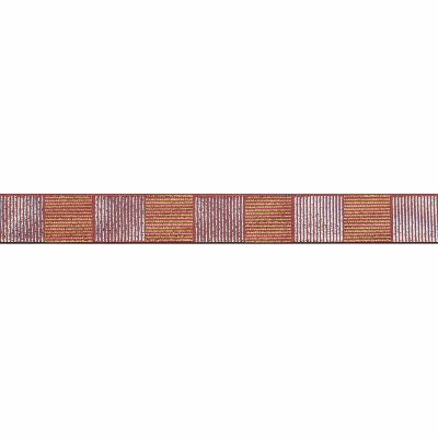 Berisfords Metallic Ribbon - Cross Hatch - 25mm Wide - Rose Gold