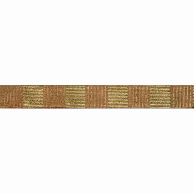 Berisfords Metallic Ribbon - Cross Hatch - 25mm Wide - Gold