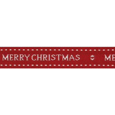 Berisfords 15mm Christmas Wishes Red Ribbon 4m Reel