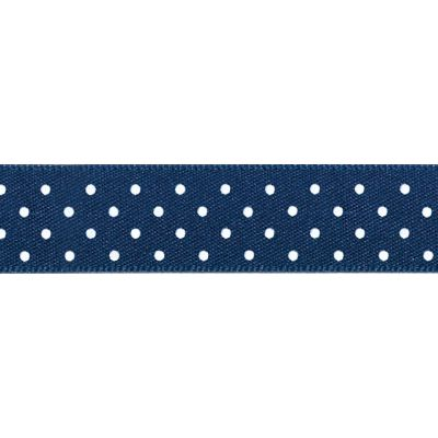 Berisfords - Micro Dot Ribbon - Navy - 3 Widths