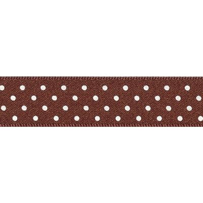 Berisfords - Micro Dot Ribbon - Brown - 3 Widths