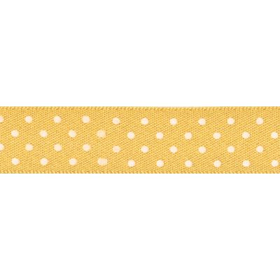 Berisfords - Micro Dot Ribbon - Gold - 3 Widths