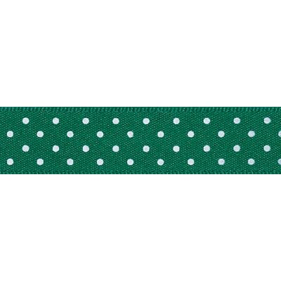 Berisfords - Micro Dot Ribbon - Hunter Green - 3 Widths