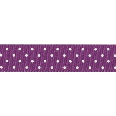 Berisfords - Micro Dot Ribbon - Plum - 3 Widths