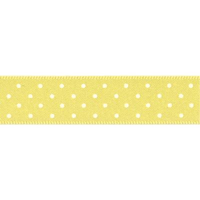 Berisfords - Micro Dot Ribbon - Lemon - 3 Widths