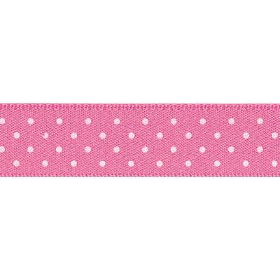 Berisfords - Micro Dot Ribbon - Hot Pink - 3 Widths
