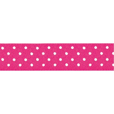 Berisfords - Micro Dot Ribbon - Shocking Pink - 3 Widths
