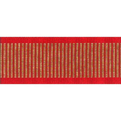 Berisfords Essentials Metallic Grosgrain Christmas Ribbon - Shine 25mm Wide - Red