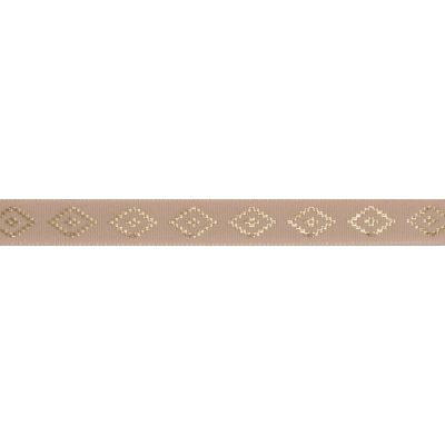 Berisfords Essentials Metallic Diamond Christmas Ribbon - 15mm Wide - Gold