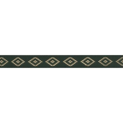 Berisfords Essentials Metallic Diamond Christmas Ribbon - 15mm Wide - Hunter GReen
