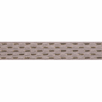 Berisfords Metallic Ribbon - Shimmer Stitch - 25mm Wide - Silver / Grey