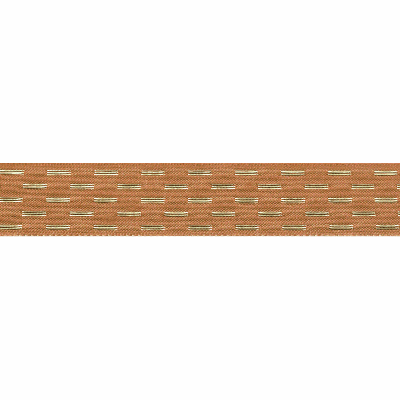 Berisfords Metallic Ribbon - Shimmer Stitch - 40mm Wide - Old Gold