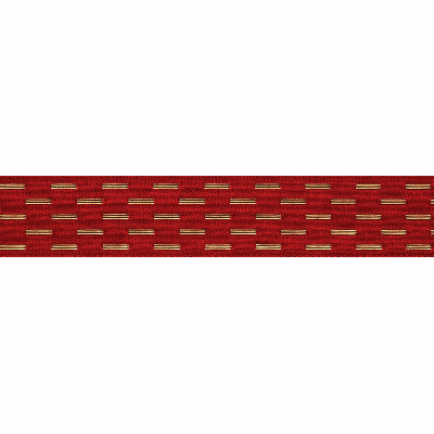 Berisfords Metallic Ribbon - Shimmer Stitch - 15mm Wide - Red