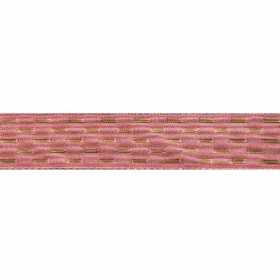 Berisfords Metallic Ribbon - Shimmer Stitch - 40mm Wide - Rose Gold