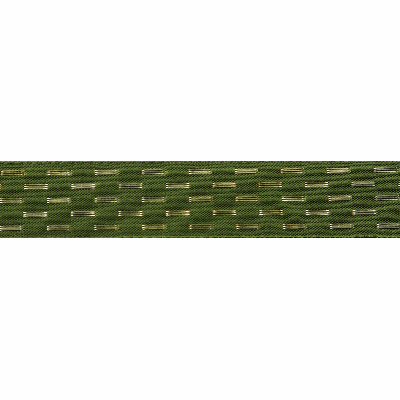 Berisfords Metallic Ribbon - Shimmer Stitch - 25mm Wide - Cypress
