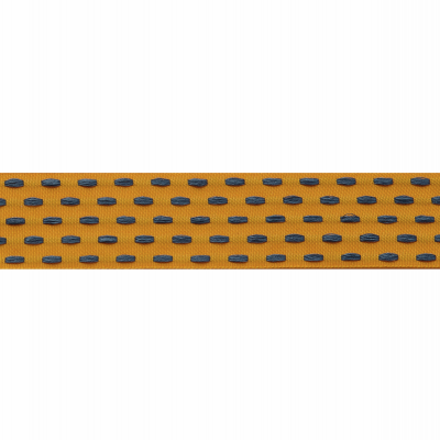 Berisfords Parallel Stitch Ribbon - 25mm Wide - Marigold / Mizu Blue