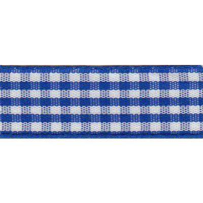 Berisfords - Gingham Ribbon - Royal Blue - 5 Widths