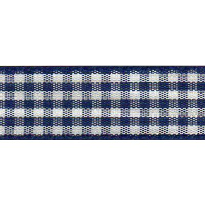 Berisfords - Gingham Ribbon - Navy - 5 Widths